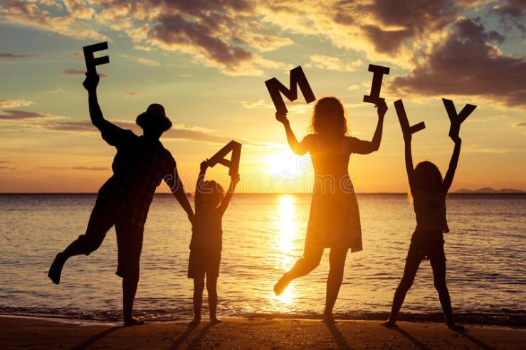 happy-family-standing-beach-sunset-time-keep-letters-forming-word-concept-friendly-49113043